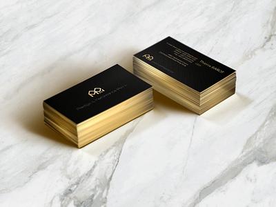 PPM Business Card business card name mockup gold sliver fiber carbon titanium yacht branding
