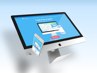 Dragonce Product Website responsive erp crm ui system cloud website product