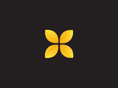 Logo design of rice brand gradual change logo rice