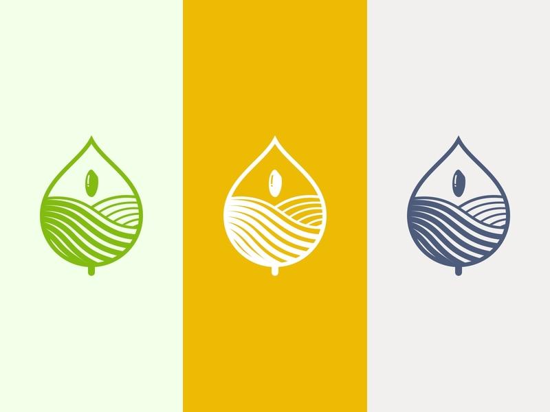 Logo design of rice brand simple line logo rice