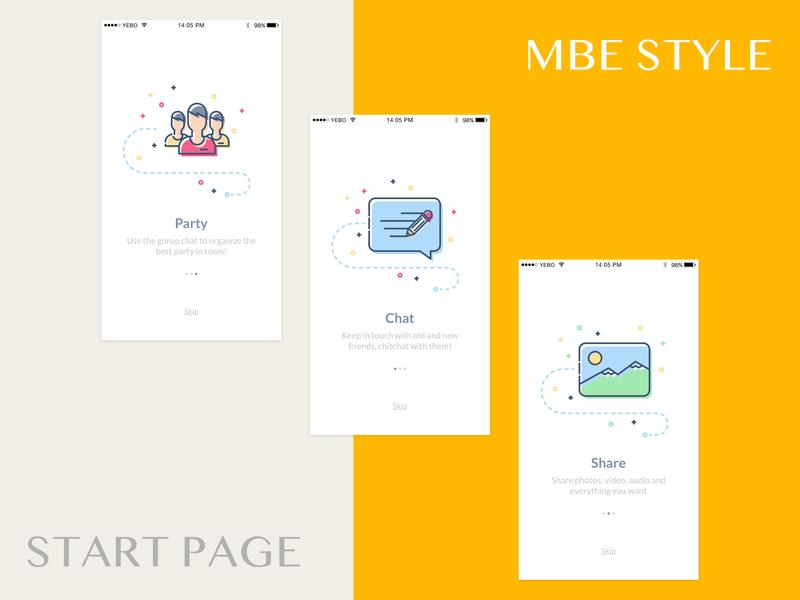 Mbe startpage startpage sketch app design ui
