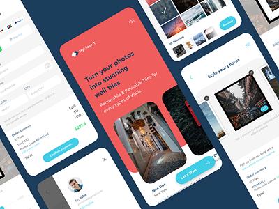 MyTilesArt Mobile App sketch mobile ui mobile design ux ui