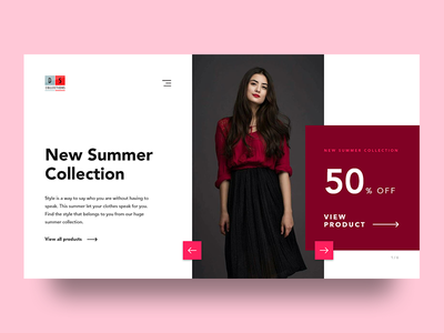 DS  Collections minimal madewithxd fashion header ux ui