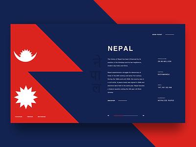 Travel Exploration - Nepal nepal madewithxd travel minimal ux ui