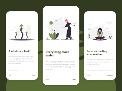 An Exploration on Onboarding Screens reading reading app onboarding onboarding screens ux ui