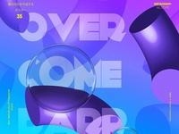 Overcome Barriers Poster Design