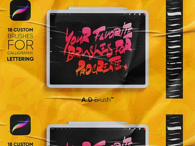 A.D Brush ™ - Procreate Calligraphy Brushes