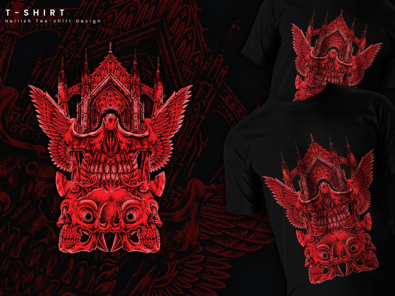 t-shirt vector creative desing hellish graphics vector art illustraion t-shirt design tshirt