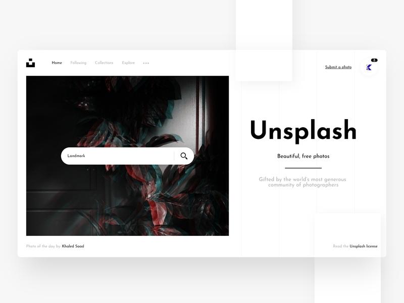 Unsplash Home Redesigned webdesign design redesign photos unsplash web web design website
