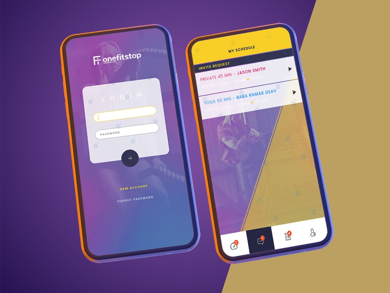 Fi one app vector icon mobile illustration ui design