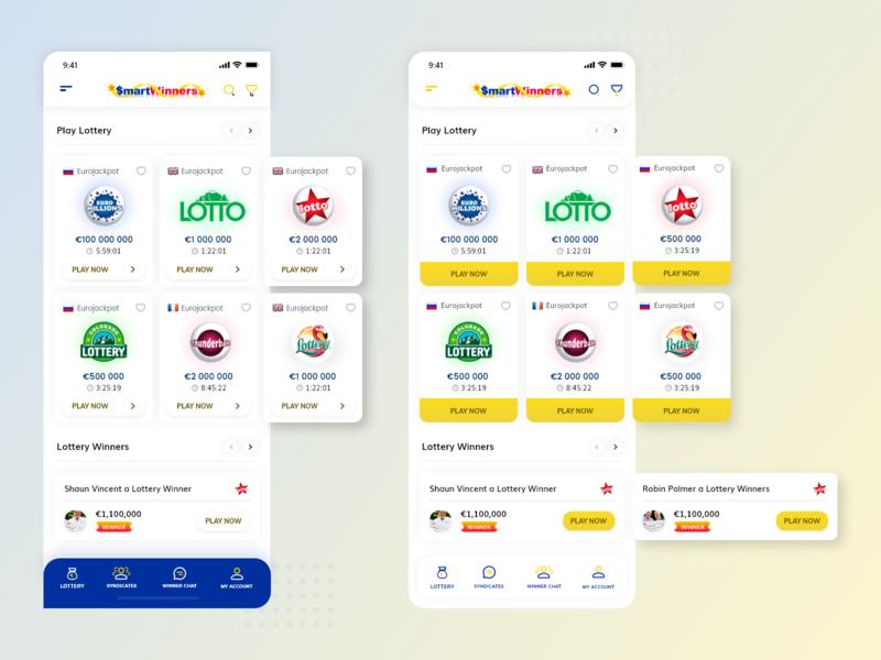 Smart Winner ios typography icon mobile app ux illustration vector ui design