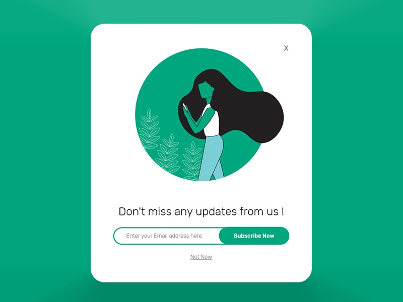 Subscribe 2018 illustration ux ui dailyui newsletter subscribe