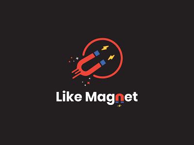 Like Magnet app branding logo design