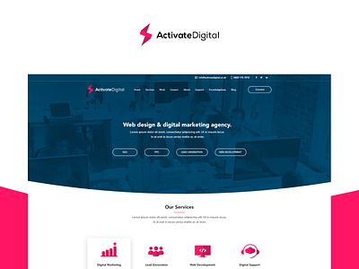 Activate Digital portfolio ux ui website launch team lead generation activate digital