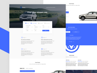 Find a car clean minimal webdesign design landing page car ux ui
