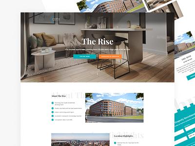 The Rise Landing Page developments property webdesign landing page creative ux ui