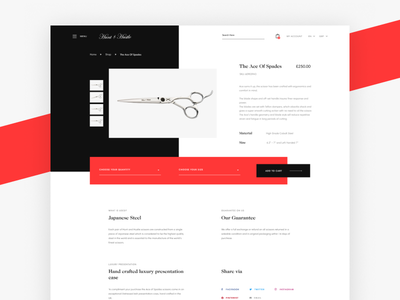 Product Page (H&H) clean product productpage e-commerce minimal ux ui
