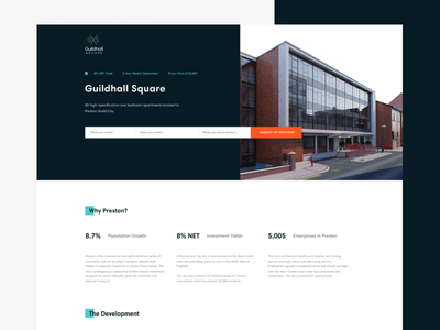 Guildhall Square (Landing Page) web development figma estate property landingpage ux ui