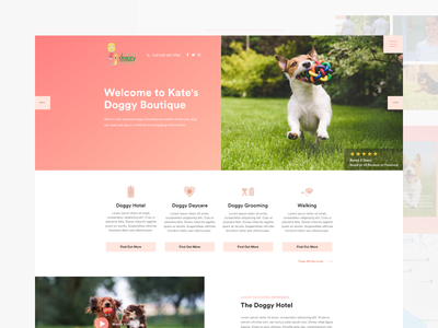 Doggy Boutique (Homepage) homepage website webdesign ux boutique figma web ui dogs