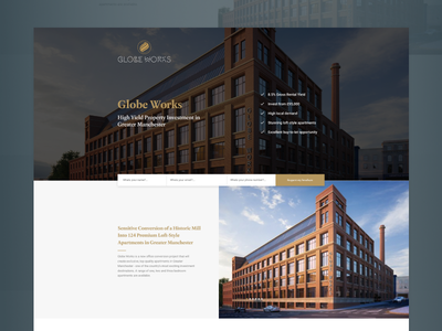 Property Development Landing Page lead generation clean development figma property minimal website web landing page ux ui