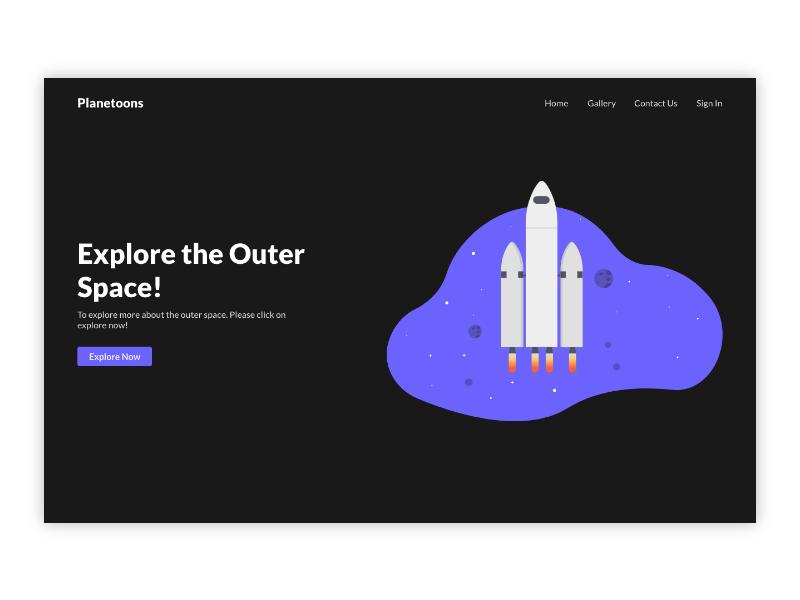 Planetoons! website illustraion