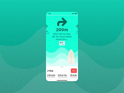 Wave finder 🏄♀️ sketch waves surfing ui ios app design vector illustration