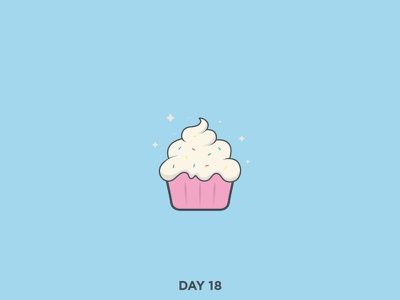 Daily Logo 18/50 - Cupcake vector simple logo art cupcake dailylogochallenge dailylogo clean branding