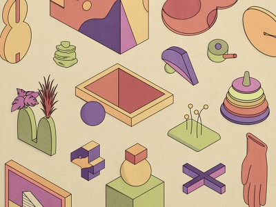 Papercraft Shapes shapes abstract isometric illustration vector illustrator papercraft