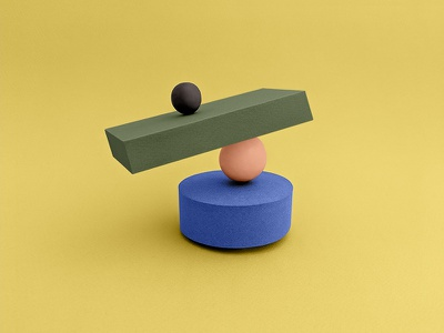 Balance design set design paper shapes abstract illustration papercraft
