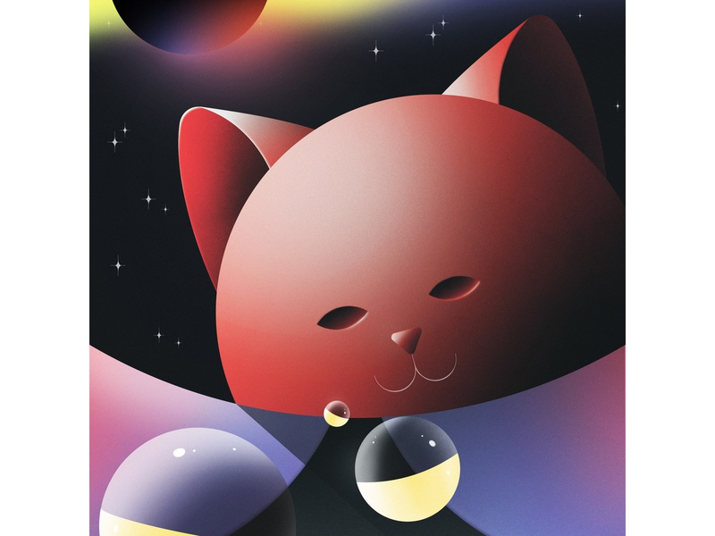 Cosmic Field Trip cats space design illustrator abstract illustration