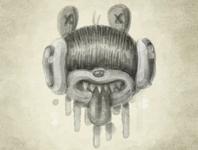 Watercolor Noodle Bear