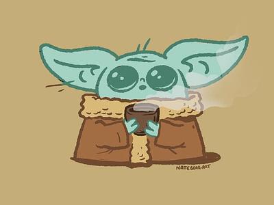 """Baby """"The Child"""" Yoda starwars thechild babyyoda illustration cartoon maythe4thbewithyou maythefourth maythe4th"""
