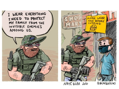 Maximum Protection! wear a mask webcomic comicstrip illustrators cartooning comics illustration cartoon
