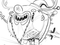 Santa Flying Solo: WIP detail