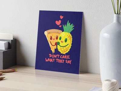 Forbidden Love illustration vecotr illsutration cartoon pineapple pizza