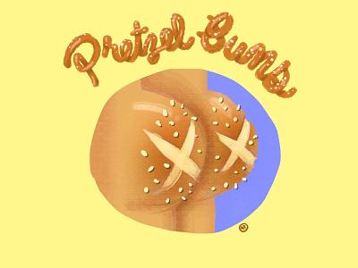 Pretzel Buns illustration pretzel salty cartoon foodie food pretzel bun