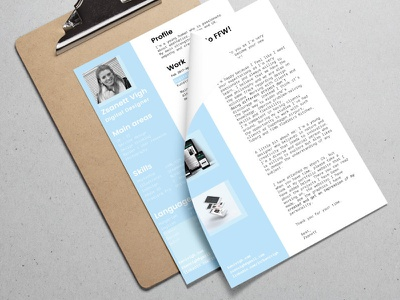 Resume and cover letter layout design motivation cover letter resume