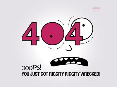 404 à la Rick and Morty dailyui ux ui error 404 rick and morty