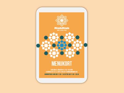 Menu Card pattern mosaic restaurant print a5 brochure menu layout