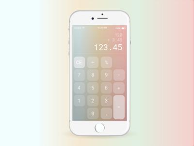 DailyUI Calculator robotomono gradient app iphone dailyui004 dailyui numbers calculator