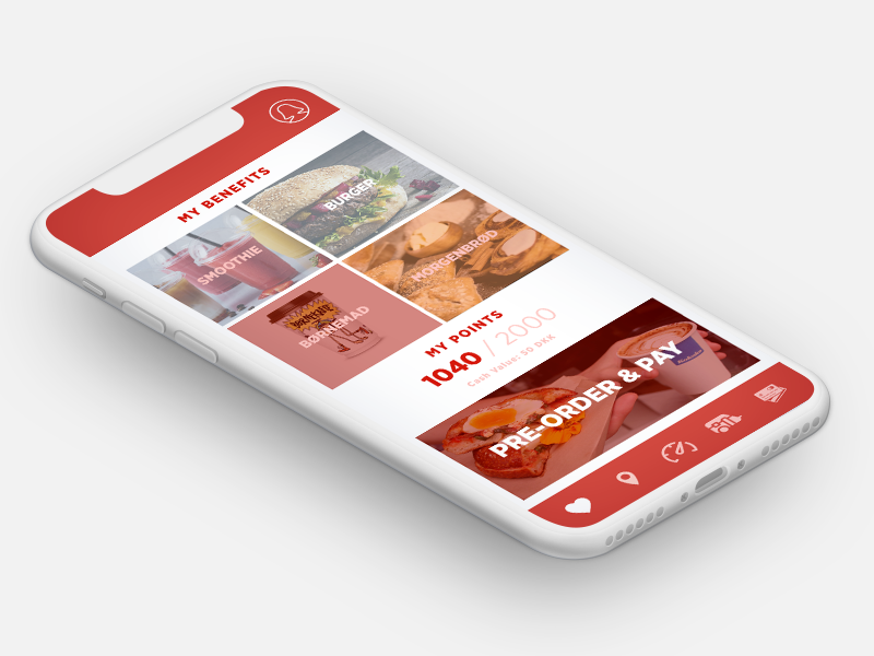 pre-order and pay service dansk danish design mobile layout ui profile icons set membership points food and beverage convenience store app design mobile app design solution app pay preorder