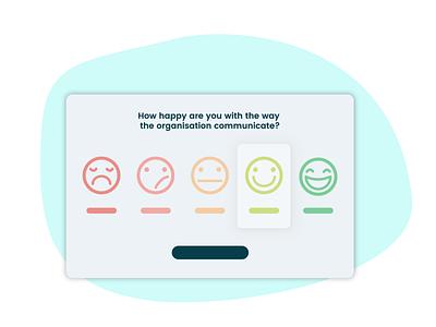 Survey question - Platypus saas hrtool illustration smiley desktop uiux ui question survey