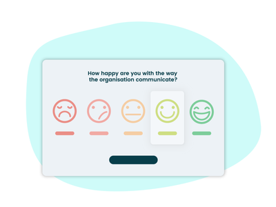 Survey question - ThePlatypus saas hrtool illustration smiley desktop uiux ui question survey