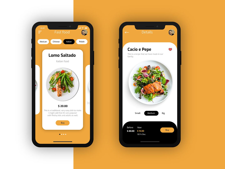 Fast food UI Design book app foodapp app mobile app ui  ux design mobile app design interaction design app mobile ux design ux ui ui  ux