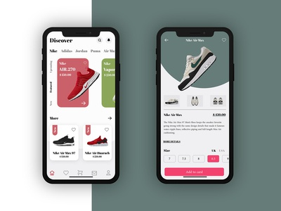 Nike products UI Design