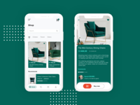 Chairs products UI Design