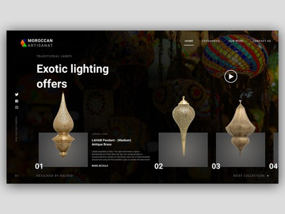 Moroccan artisanat products web site -- UI Design