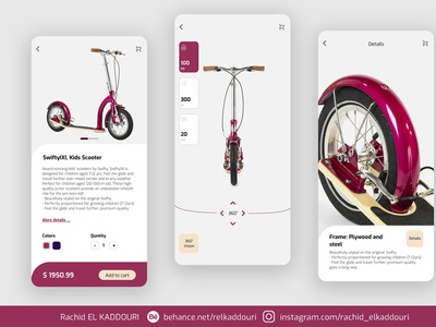 Kids Scooter product -- UI Design