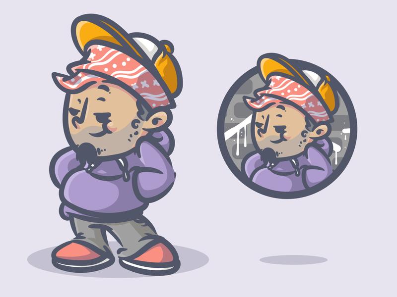 street boys mascot character streetartist graffity streetart indonesia graffiti design vector artwork illustration