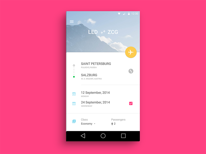 Aviasales L (Material Design) material design android l android search flight aviasales